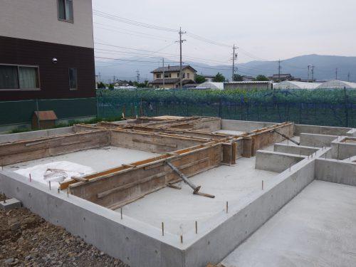 コンクリート打設完了